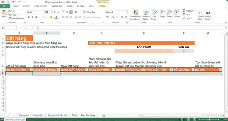phần mềm quản lý thi công bằng file excel