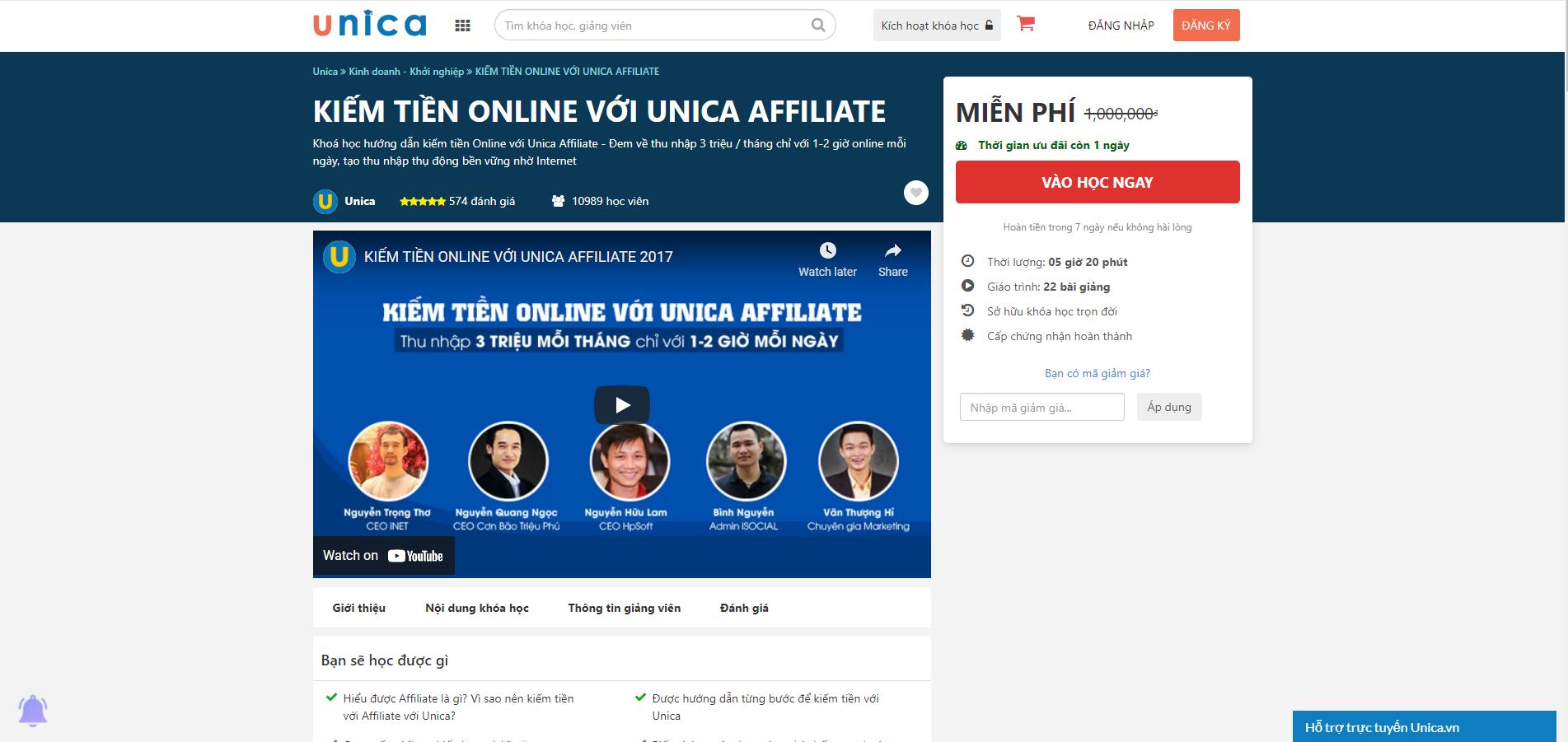 khoa-hoc-affiliate-marketing-voi-Unica